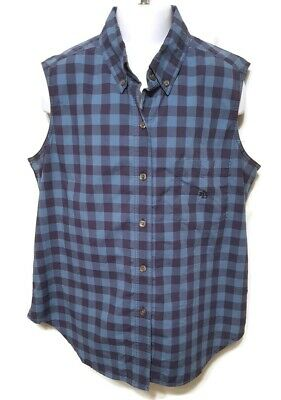 Lauren Ralph Lauren Womens 10 Petite Shirt Plaid Sleeveless Button Up Top Vest