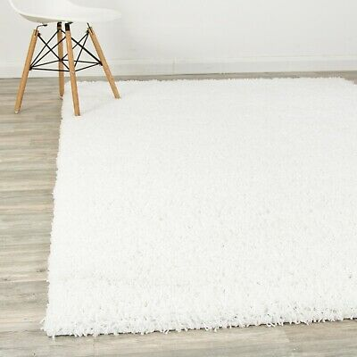 Thick White Fluffy Shaggy Rugs Soft 5CM Shag Living Room Bedroom Rug Area Carpet
