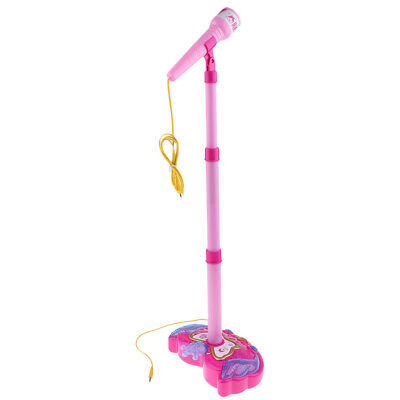 Kids Karaoke Machine With Microphone Adjustable Stand Music Play Toys