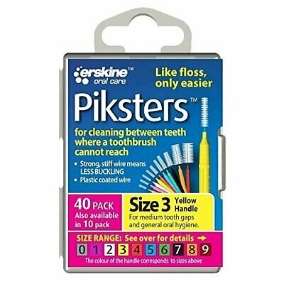 Piksters Yellow Interdental Brush Size 3 40pack