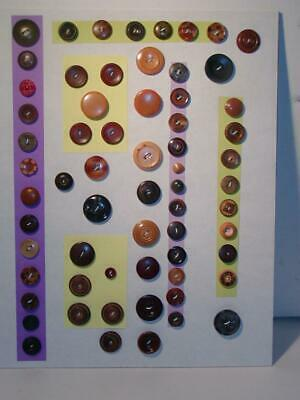 Antique BUTTONS - Vintage MIXED COMP Buttons, Nicely Carded back in 1994