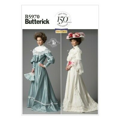 Butterick Sewing Pattern 5970 Misses' Vintage Retro Victorian Dress Costume