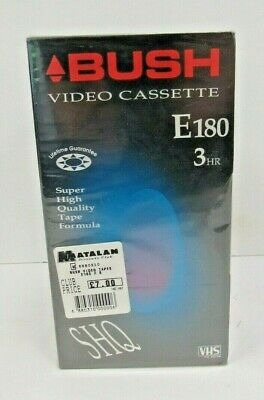 NEW Bush Video Cassette E180 (3Hr) x 5 - WEY L31
