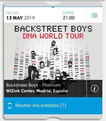 entrada concierto Backstreet Boys En madrid