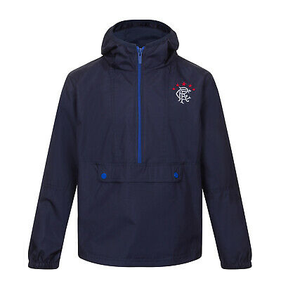 Rangers FC Official Football Gift Boys Half Zip Shower Jacket Windbreaker