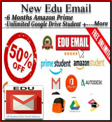 NEW Edu E-mail ✅6 Free Months Amazon Prime+✅Unlimited Google Drive