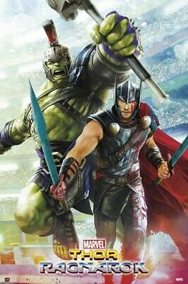 MARVEL THOR RAGNAROK MOVIE POSTER, size 24x36