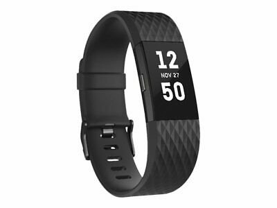 NEW! FITBIT FB407GMBKL-EU Charge 2 Gunmetal Activity Tracker With Band Black L M