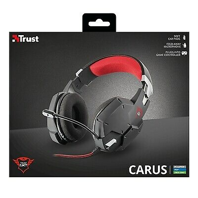 PS4  Was £34.99 TRUST GXT 322 Carus  Gaming Headset Black /& Red X box 1