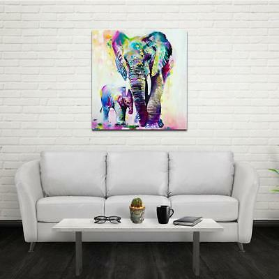 Modern hand-painted Art Canvas Abstract Oil Painting Wall Decor Elephant FM