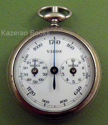 Working Antique Henri Chatelain Of France Mechanical Pedometer Multi Dial