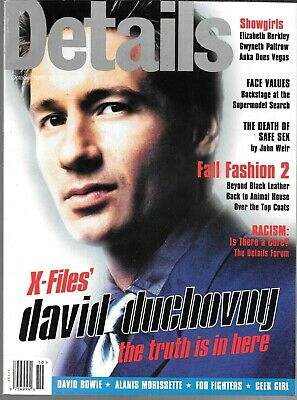 Details For Men Magazine October 1995 (Vf) David Duchovny Of The X-Files Cover