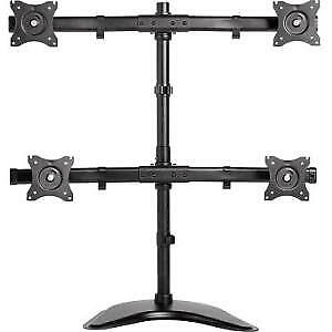 NEW! Newstar Tilt/Turn/Rotate Quad Desk Mount Stand Clamp & Grommet for Four 10-