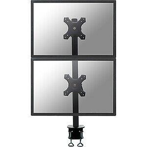 "NEW! Newstar Tilt/Turn/Rotate Dual Desk Mount Clamp for Two 10-27"" Monitor Scree"