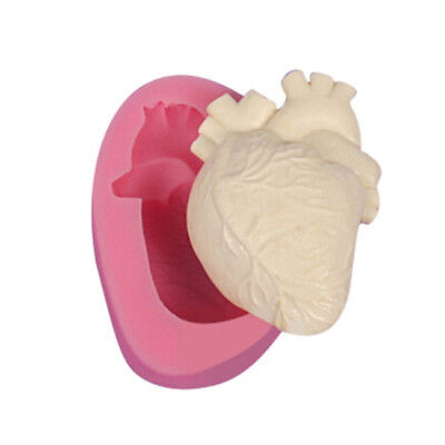 3D Heart Shaped Fondant Cake Silicone Mold Cookies Kitchen DIY Baking Decor FM