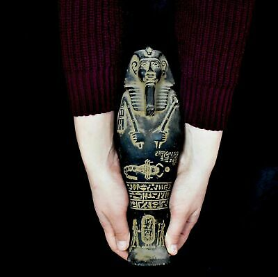 ANCIENT EGYPT ANTIQUE EGYPTIAN LARGE basalt USHABTI of king 31 cm 1500–300 BC