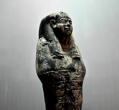 ANCIENT EGYPT ANTIQUE EGYPTIAN large basalt USHABTI 30 cm 1500–300 BC