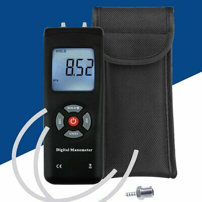 Handheld Portable Manometer Air Vacuum / Gas Pressure Gauge Meter w/