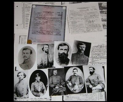 17 Confederate Generals DEATH CERTIFICATES + 12 PHOTOS, Civil War CSA Survivors!