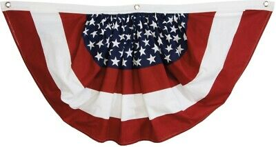 Patriotic USA American Bunting Polyester 3 x 1.5 Foot Outdoor Decoration Flag