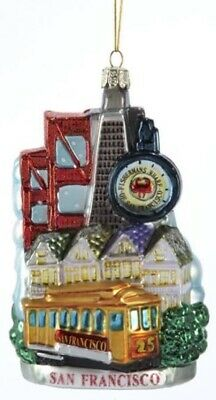 San Francisco California Cityscape Glass Christmas Ornament Decoration Landscape