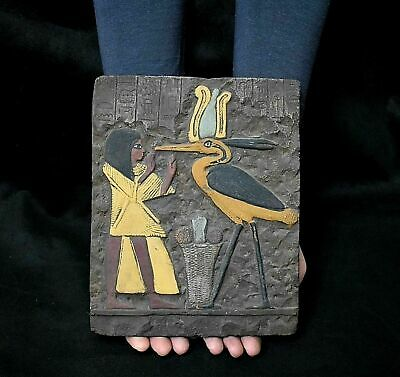 ANCIENT EGYPT ANTIQUE Egyptian plaque THOTH as Bird IBIS