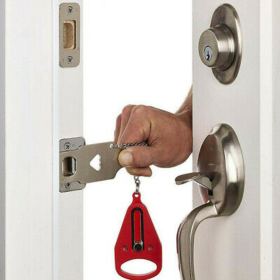 AU Qicklock - Temporary Security Door Lock- Home or Travel Portable Door Lock