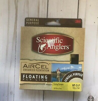Scientific Anglers 103817 Air Cel Floating Fly Line-WF-5-F-Yellow