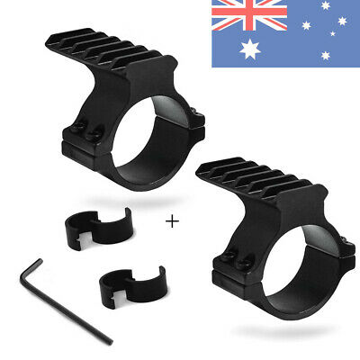 2pcs 25mm&30mm Ring Adapter w/ 20mm Weaver Picatinny Rail Mount for Scope Barrel