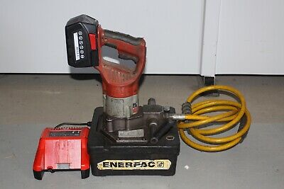 Enerpac BP-122 Cordless Battery Powered Hydraulic Pump w Milwaukee 28V Charger