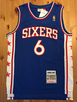 2ab9fe80f63 Julius Erving Dr. J  6 Philadelphia 76ers Men s Blue Hardwood Classics  Throwback