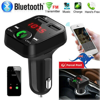 Bluetooth Car Kit Wireless FM Transmitter Dual USB Charger Audio MP3 Player New