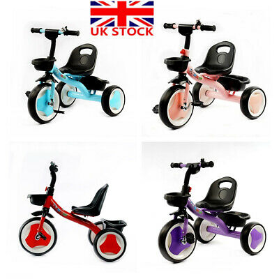 00829b2c70b Kids Children Tricycle Baby Scooter Ride on Trike 3 Wheels Toddler Safety  Toy