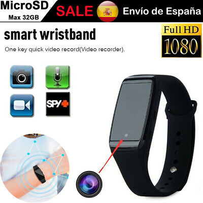 Mini camara Espia de movimiento Pulsera HD 1080P DVR Reloj Grabadora de Video SD