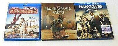 THE HANGOVER TRILOGY PART I II III UNRATED Lot Blu ray DVD HD TESTED Steelbook