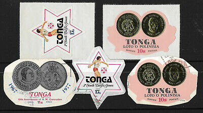 TONGA Collection 5 Different STAMPS Mint & Used