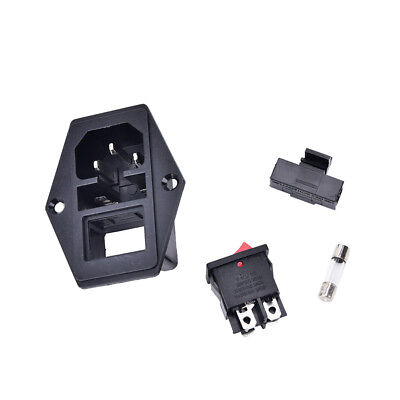 Hot 3Pin iec320 c14 inlet module plug fuse switch male power socket 10A 250V CSH