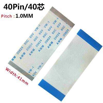 Pitch 1.0mm 40-Pin FFC/FPC Flexible Flat Cable 80C 60V VW-1 W:41mm L:50mm-2000mm