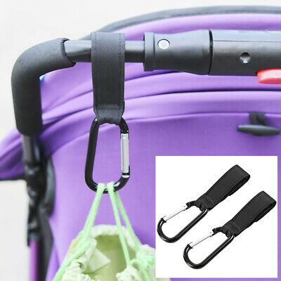 2pcs Baby Stroller Accessories Pram Hanger Strap Pushchair Bottle Bag Hooks Clip