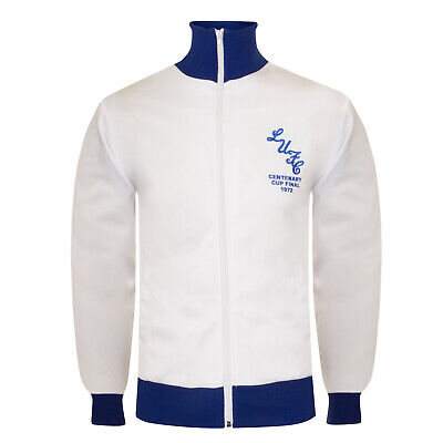 Leeds United AFC Official Gift Mens 1972 FA Cup Winners Retro Track Jacket Small