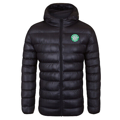 Celtic FC Official Football Gift Mens Quilted Hooded Winter Jacket