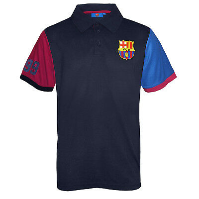 FC Barcelona Official Football Gift Mens Polo Shirt Blue