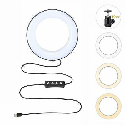 """Zomei 6"""" LED Ring Light Dimmable Lamps For Cell Photo Live Video Make Up Studio"""