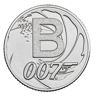 A-Z (2019) ALPHABET 10p - LETTER (B) FOR JAMES BOND 007  UNCIRCULATED