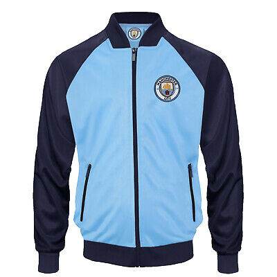 Manchester City FC Official Football Gift Boys Retro Track Top Jacket