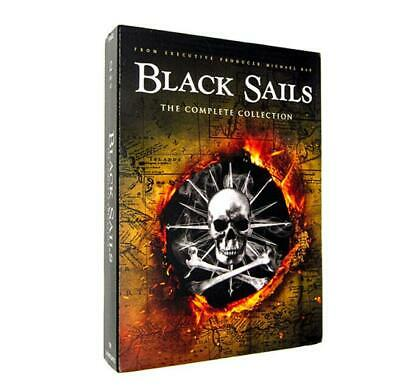 Black Sails The Complete Series (DVD, 2014, 12-Disc Set) Sealed Seasons 1-4 New