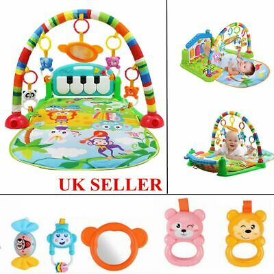 Baby Gym Play Mat Lay and Play 3 in 1 Fitness Music Lights Fun Piano XMAS Toy UK