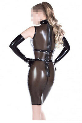Latex Catsuit Rubber Gummi Waist Trims Sexy Elegant Dress Tights Customized .4mm