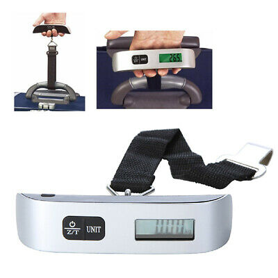 50kg/10g Portable Travel LCD Digital Hanging Luggage Weighing Scale Electronic
