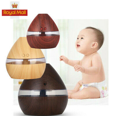 Latest LED Light Electric Diffuser 300ML USB Humidifier Aromatherapy Wood Grain